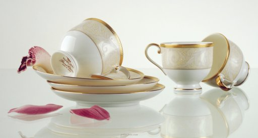 TEA SET 15PCS, NOCTURNE GOLD