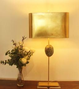 Green Abalone Buffet Lamp