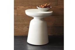 Venosa White Side Table
