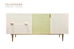 Raffine Cabinet Green White