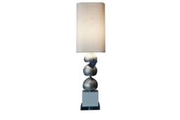 Silver urchin lamp