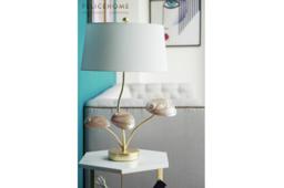 Taro Pink Abalone Lamp