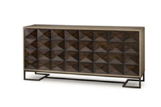 Tủ Casey Side Board được thiết kế độc đáo, như 1 chiếc tủ kim cương đen tuyền, lấp lánh
