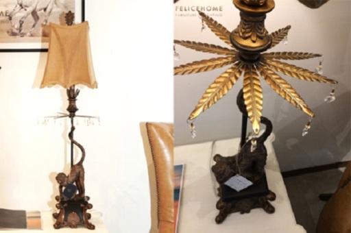 Đèn bàn Monkey được thiết kế theo phong cách cổ kính và không kém phần sang trọng