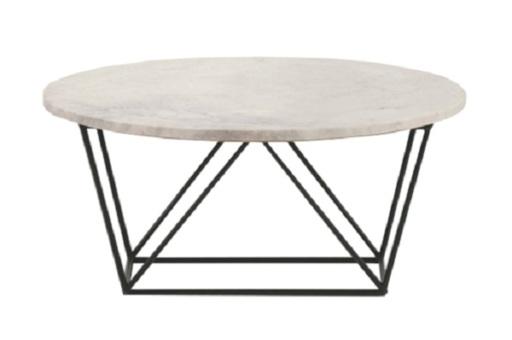 Bàn Wire Coffee 02 với mặt bàn hình tròn được làm từ đá mabble tự nhiên, sang trọng và hiện đại