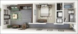 Thiết kế nội thất căn hộ hiện đại 1 phòng ngủ cho người độc thân