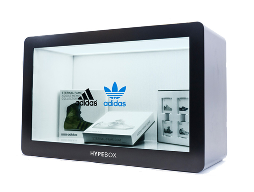 Transparent LCD Glass Showcase